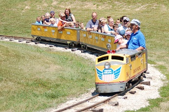 All ages enjoy the train rides