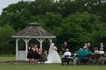 Wedding at the Gazebo by the Lake